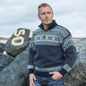 Norsk sweater af 100% ren ny uld